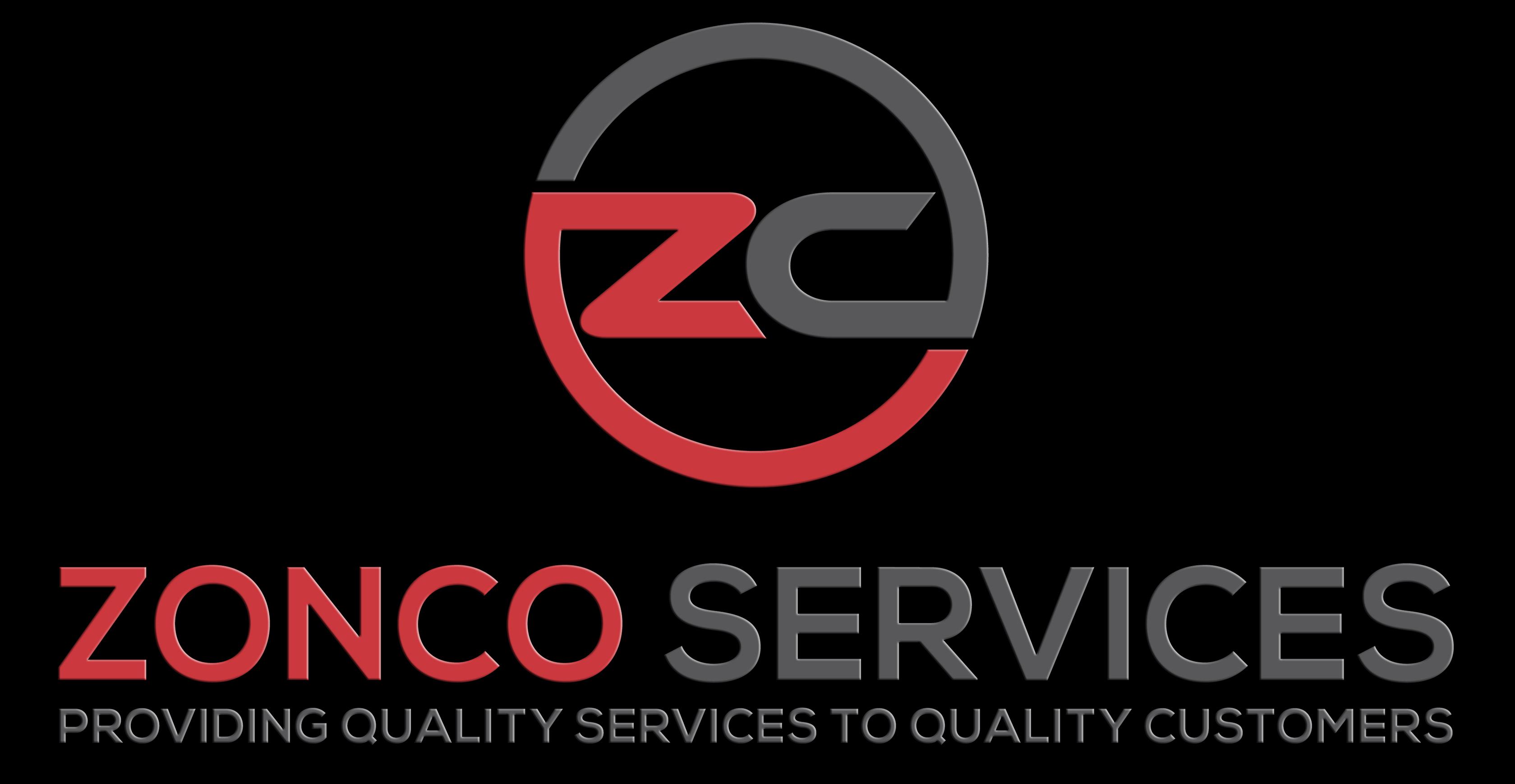 ZONCO SERVICES LOGO Black background